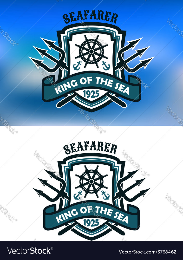 Seafarer marine banner vector | Price: 1 Credit (USD $1)