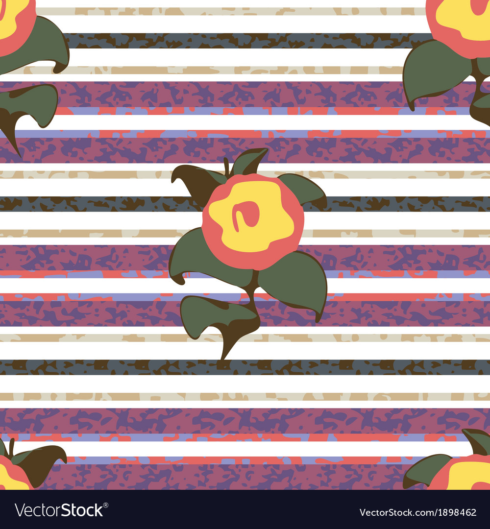 Stripes and flowers vector