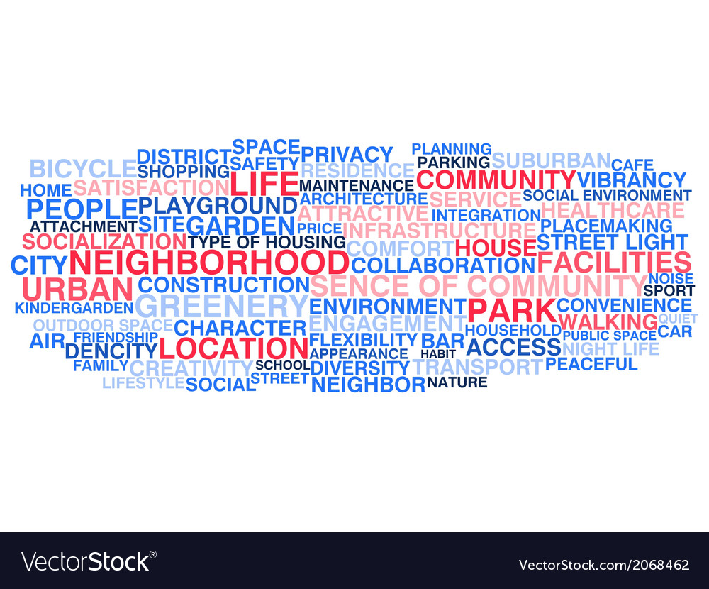Urban neigborhood life vector | Price: 1 Credit (USD $1)
