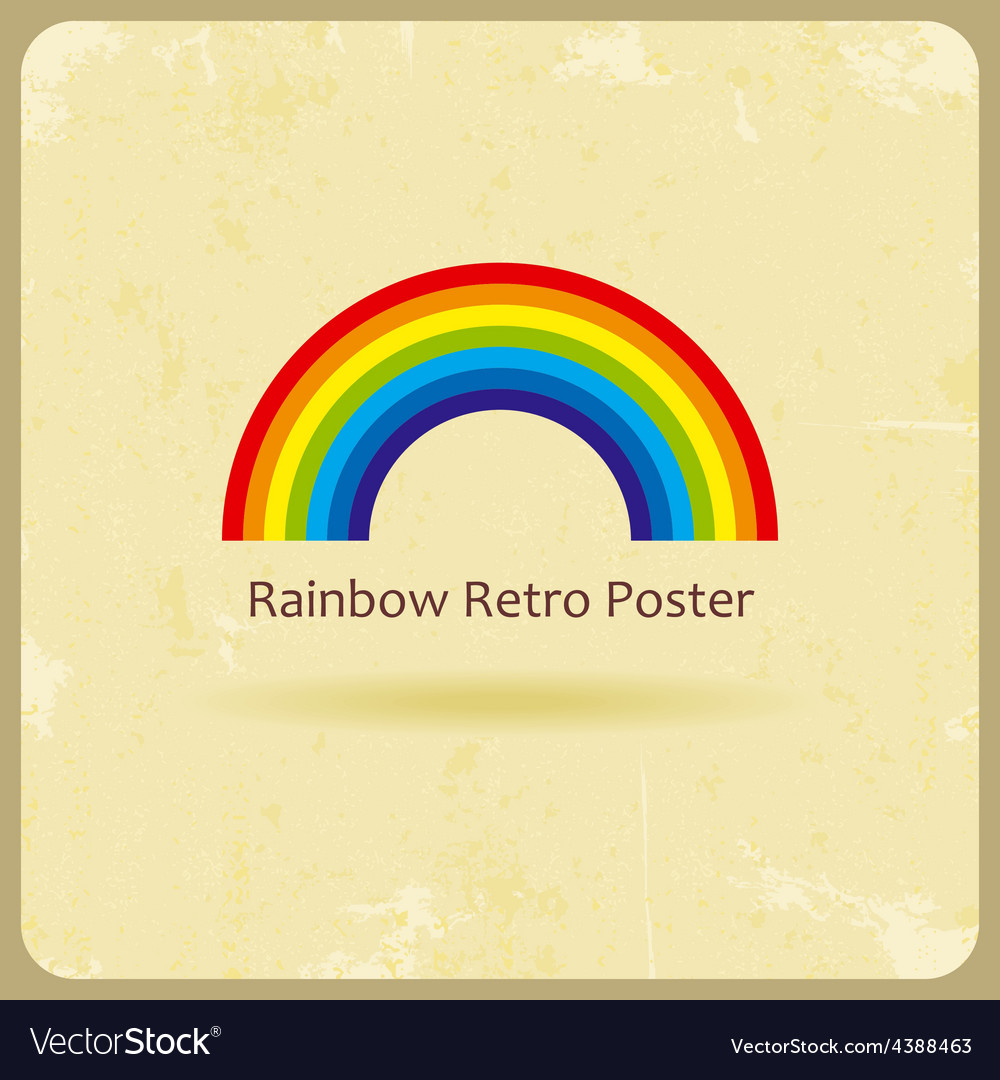 Abstract retro rainbow background vector | Price: 1 Credit (USD $1)