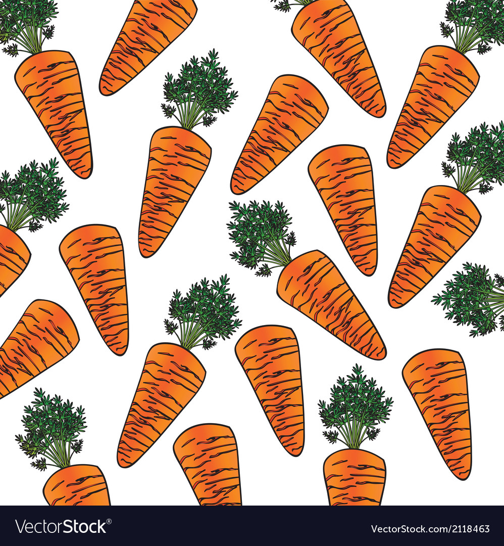 Background pattern carrot cartoon vector | Price: 1 Credit (USD $1)