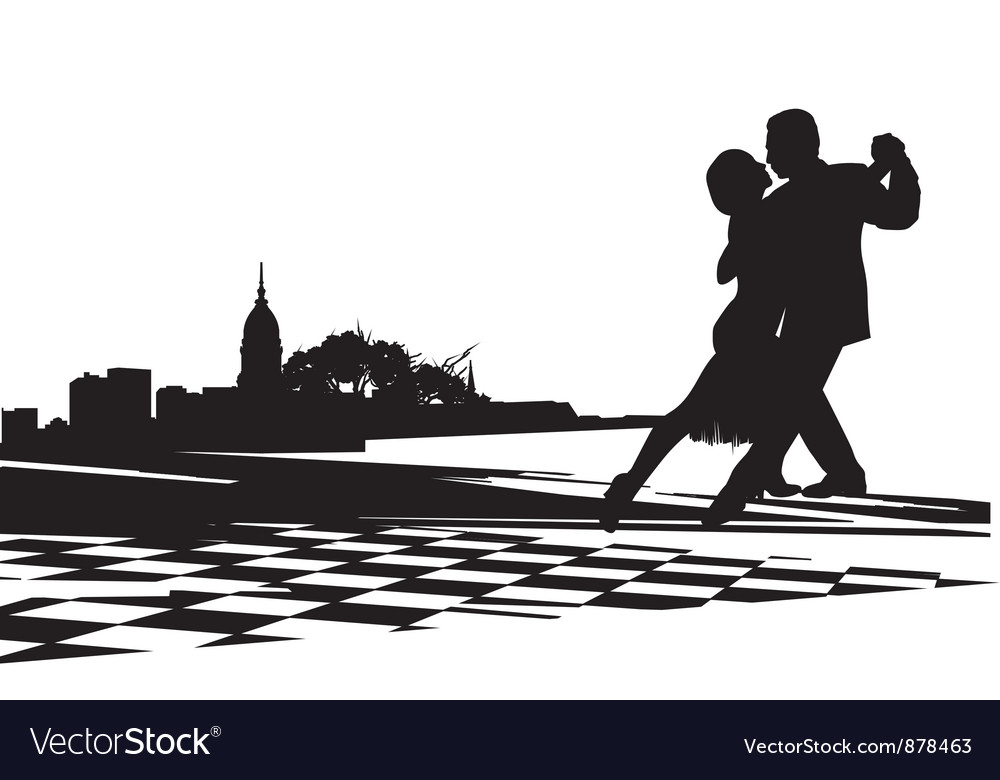 Couple dancing tango vector | Price: 1 Credit (USD $1)