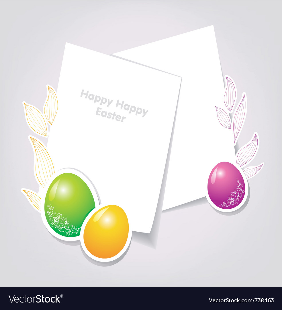 Easter backgr vector | Price: 3 Credit (USD $3)