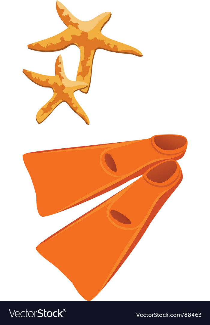 Flipper fins vector | Price: 1 Credit (USD $1)