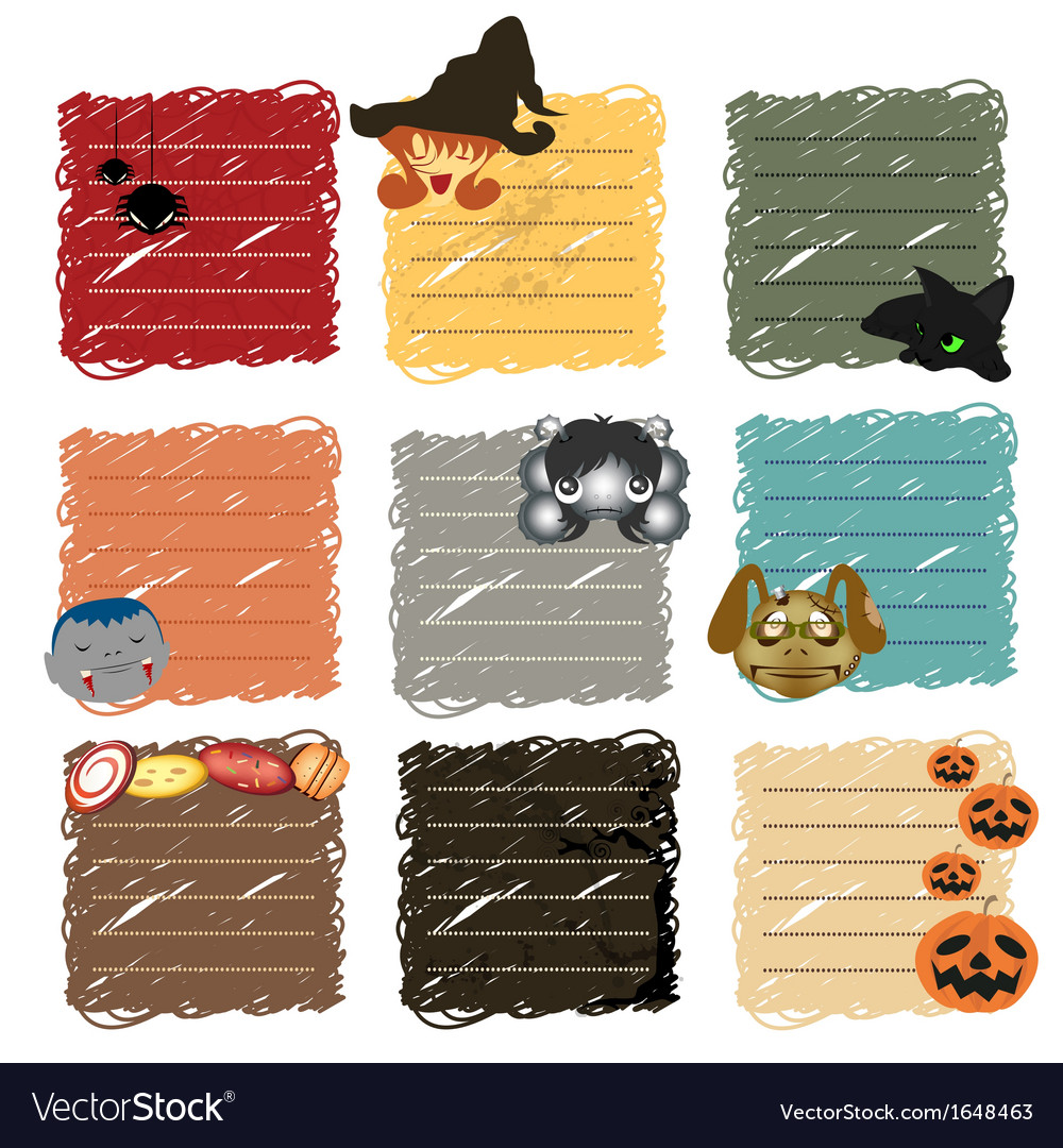 Halloween sticky note vector | Price: 1 Credit (USD $1)
