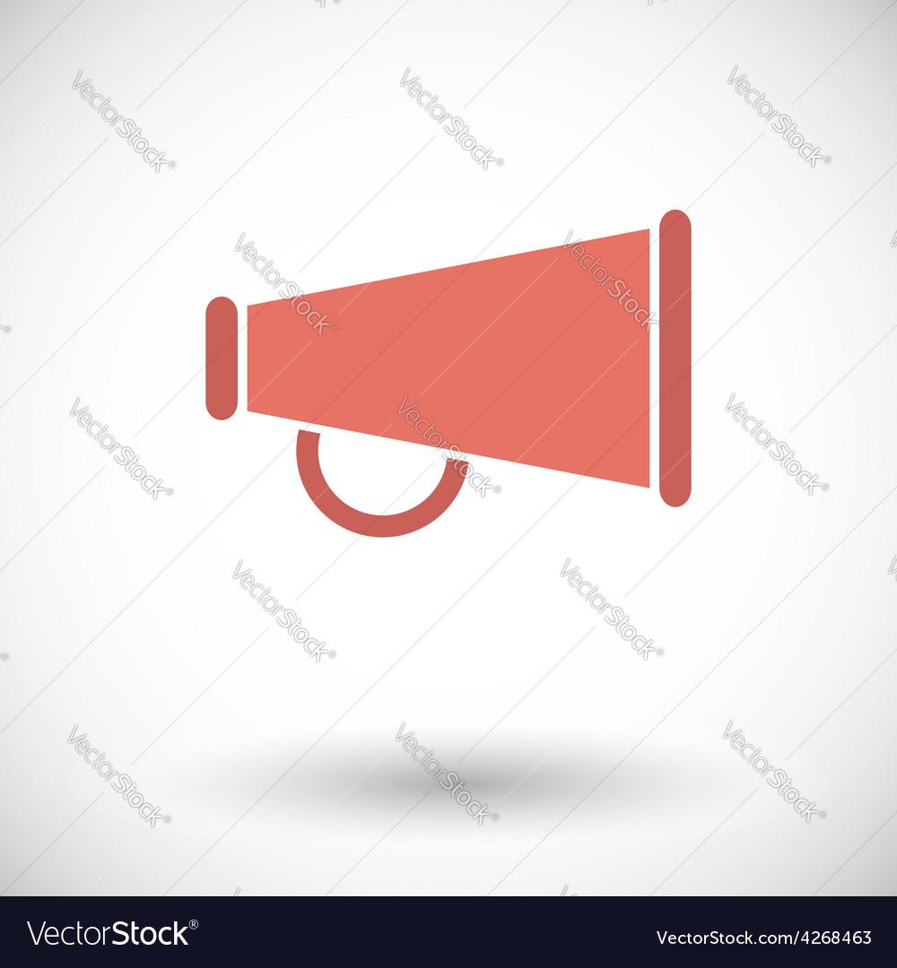 Horn single icon vector   Price: 1 Credit (USD $1)