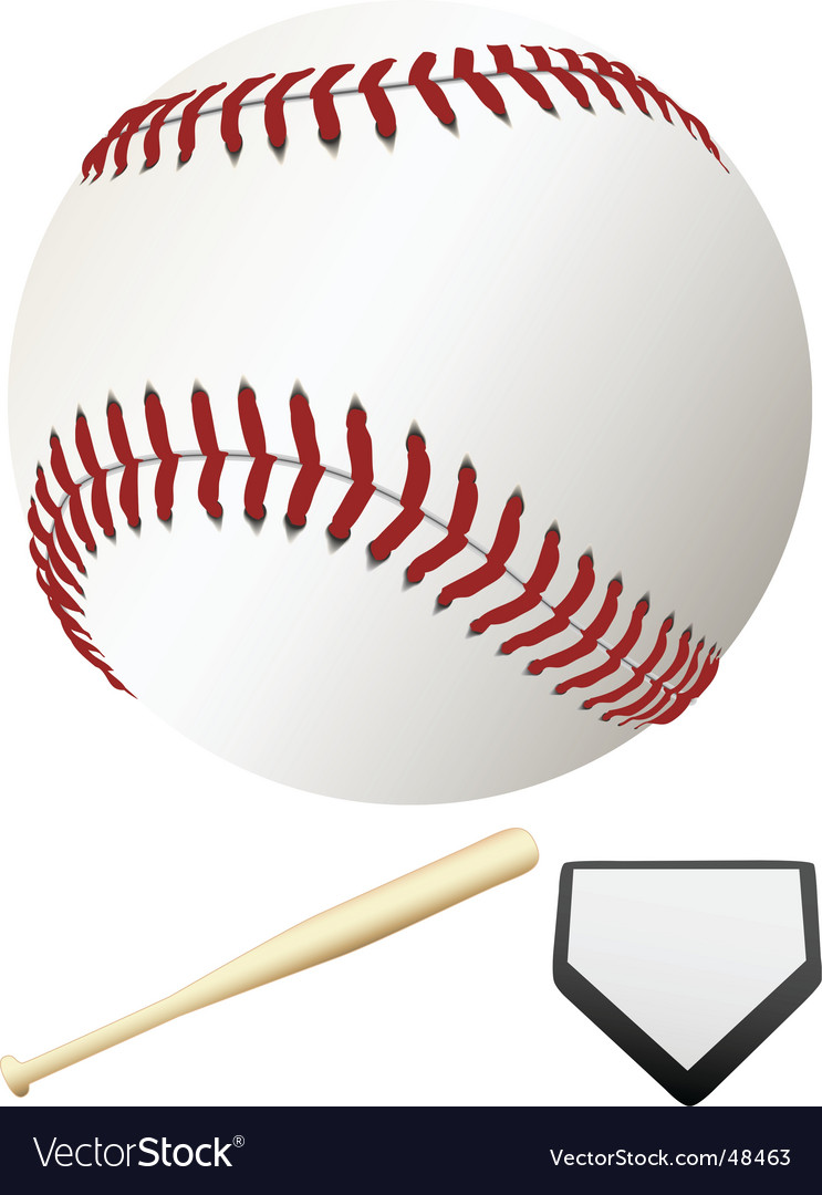 Major league baseball elements vector