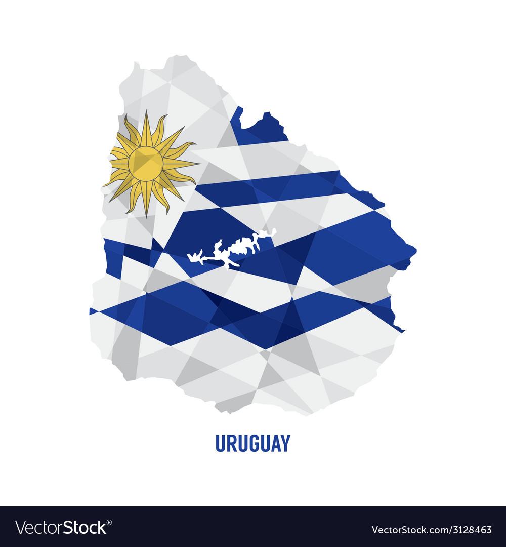 Map of uruguay vector | Price: 1 Credit (USD $1)