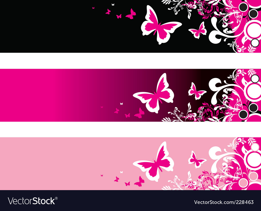 Pink floral vector | Price: 1 Credit (USD $1)