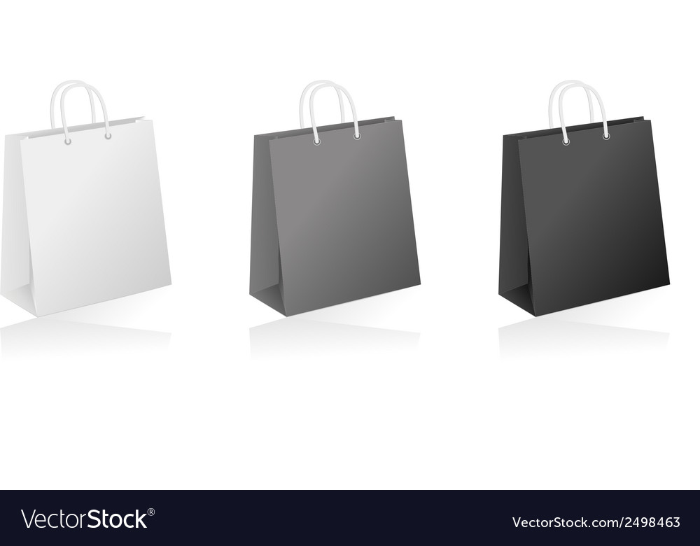 Shopping bag collection vector | Price: 1 Credit (USD $1)