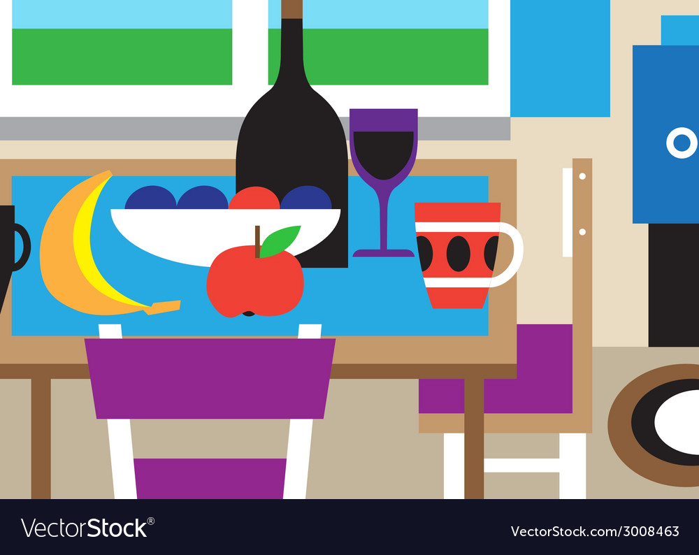 Still life - cartoon vector | Price: 1 Credit (USD $1)