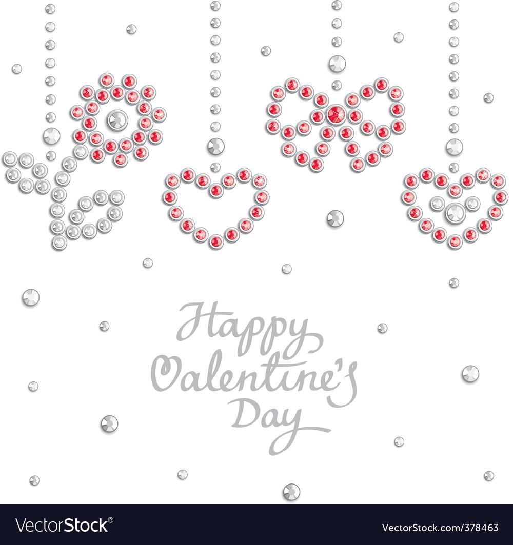 Valentine jewel background vector | Price: 1 Credit (USD $1)