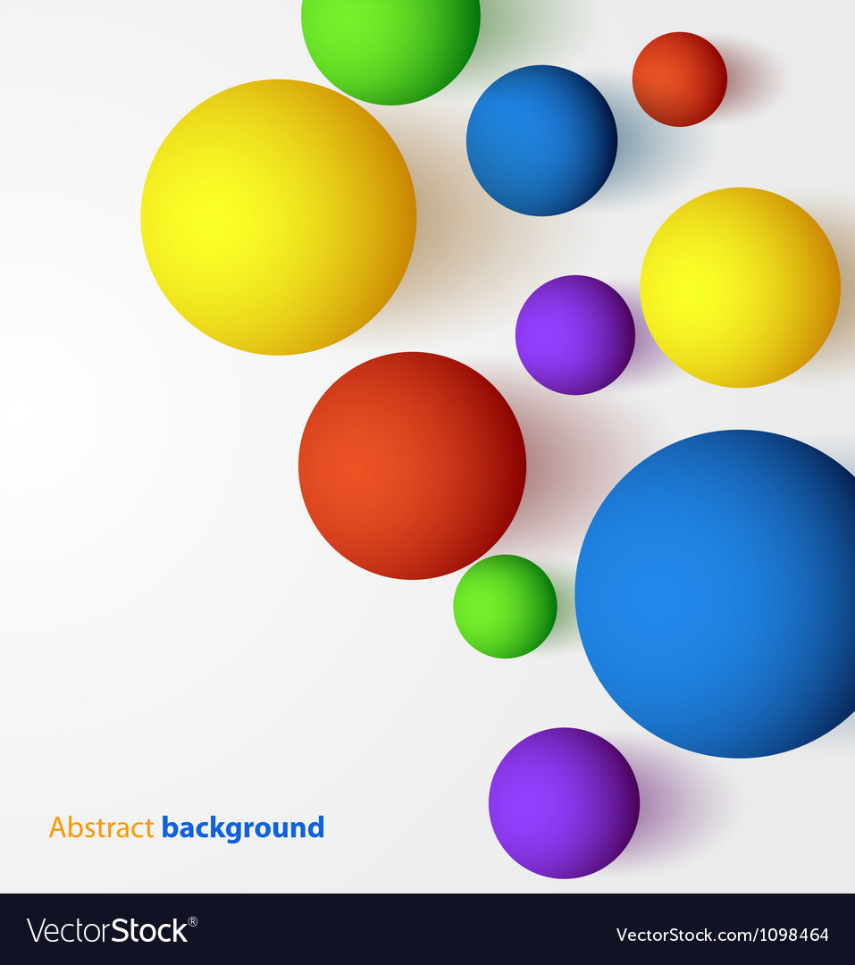 Abstract 3d colorful spheric background vector | Price: 1 Credit (USD $1)