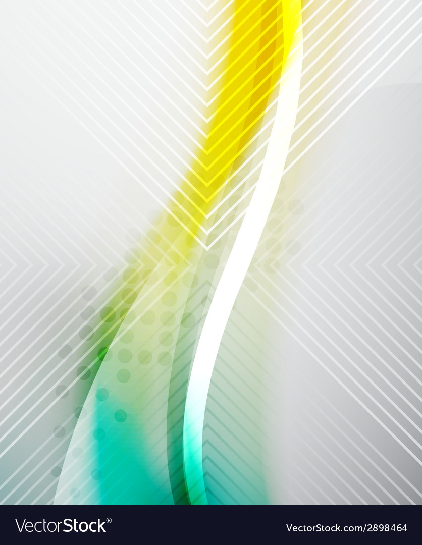 Abstract background - yellow shiny blurred wave vector | Price: 1 Credit (USD $1)