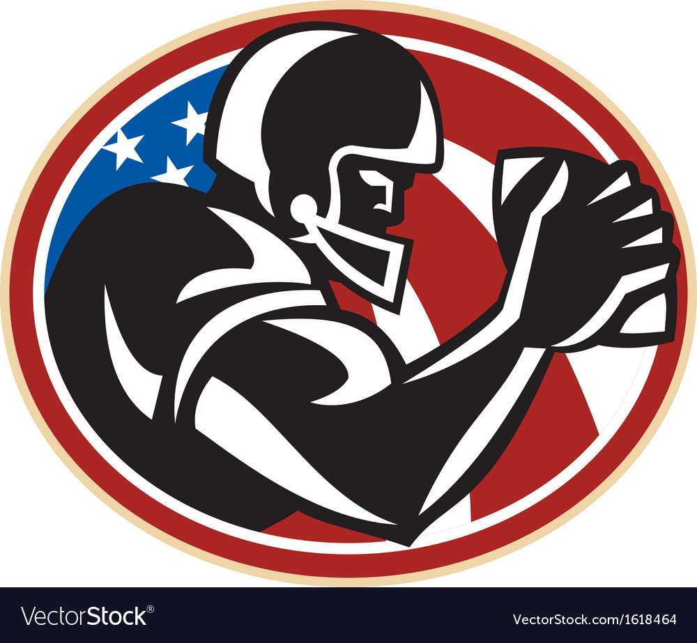 American football wide receiver ball vector | Price: 1 Credit (USD $1)
