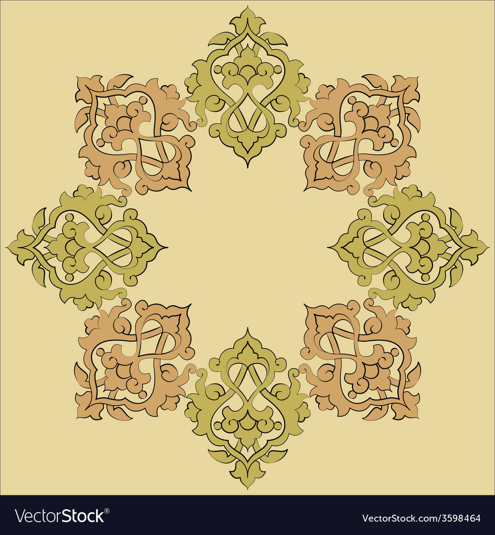 Artistic ottoman pattern series nineteen vector | Price: 1 Credit (USD $1)
