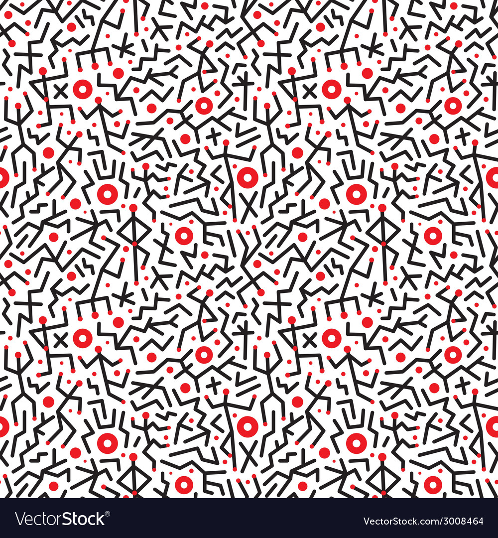 Dancing people - seamless background vector | Price: 1 Credit (USD $1)