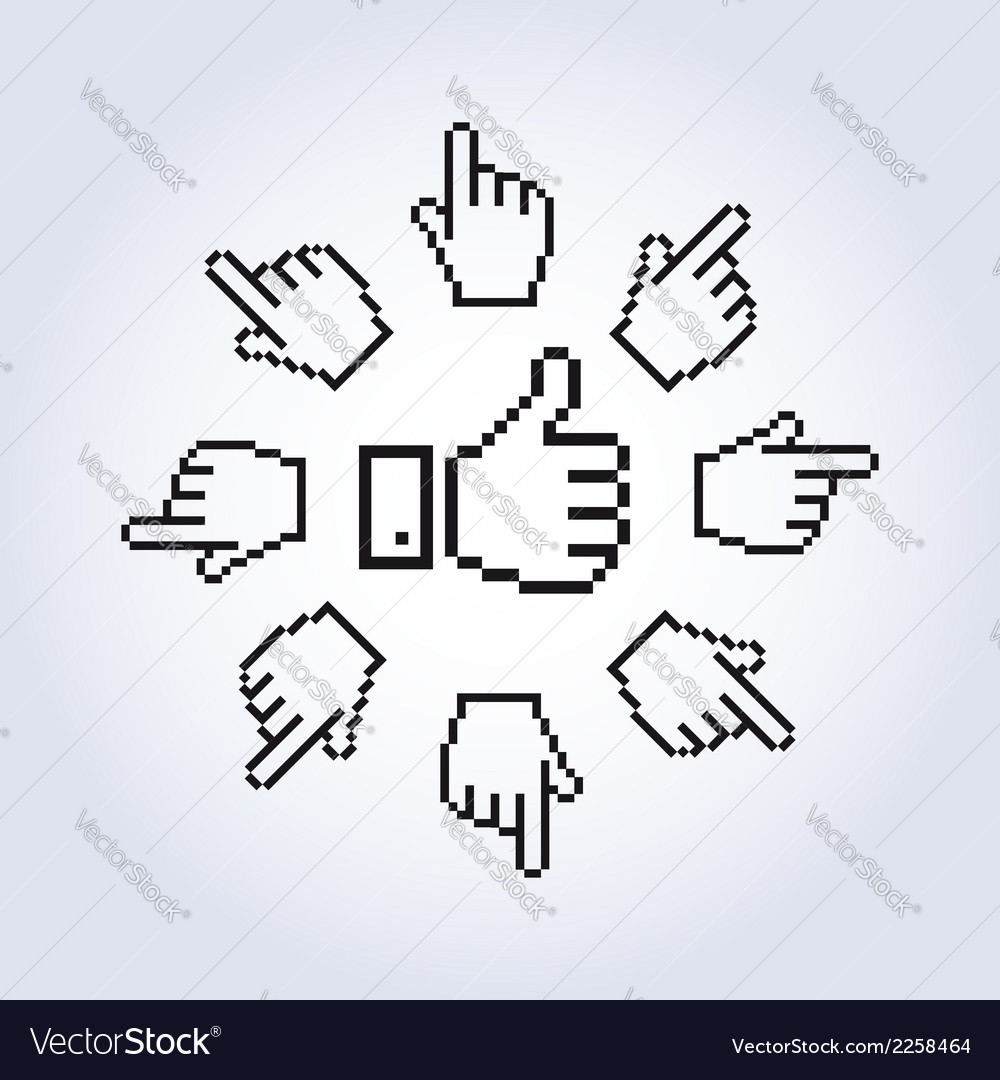 Hand cursors vector | Price: 1 Credit (USD $1)