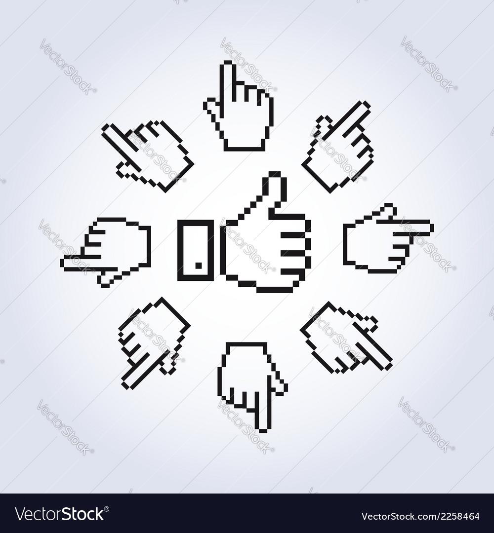 Hand cursors vector | Price: 1 Credit (USD $1)