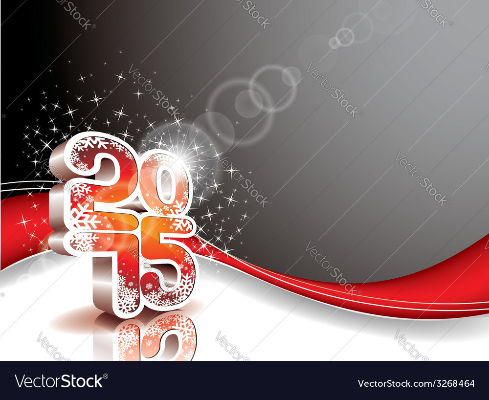 Happy new year 3 d 2015 celebration background vector | Price: 1 Credit (USD $1)