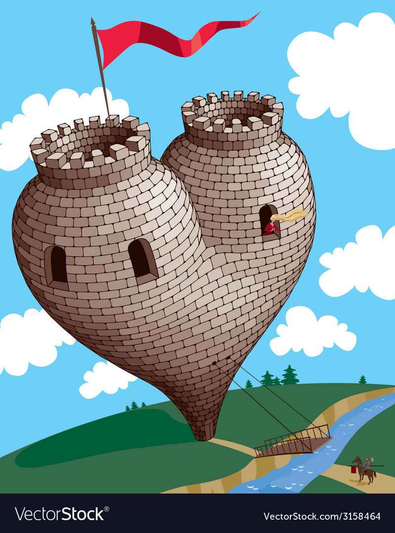 Heart tower vector | Price: 3 Credit (USD $3)