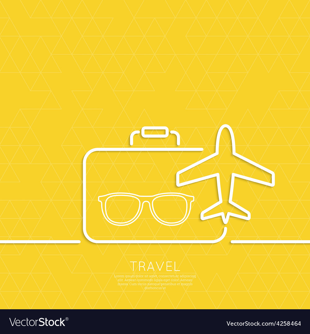 Icon airplane and suitcase vector | Price: 1 Credit (USD $1)