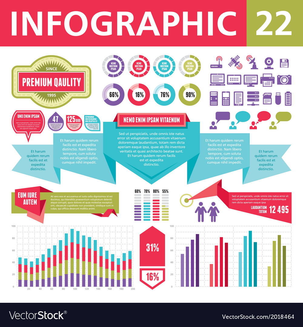 Infographics elements 22 vector | Price: 1 Credit (USD $1)