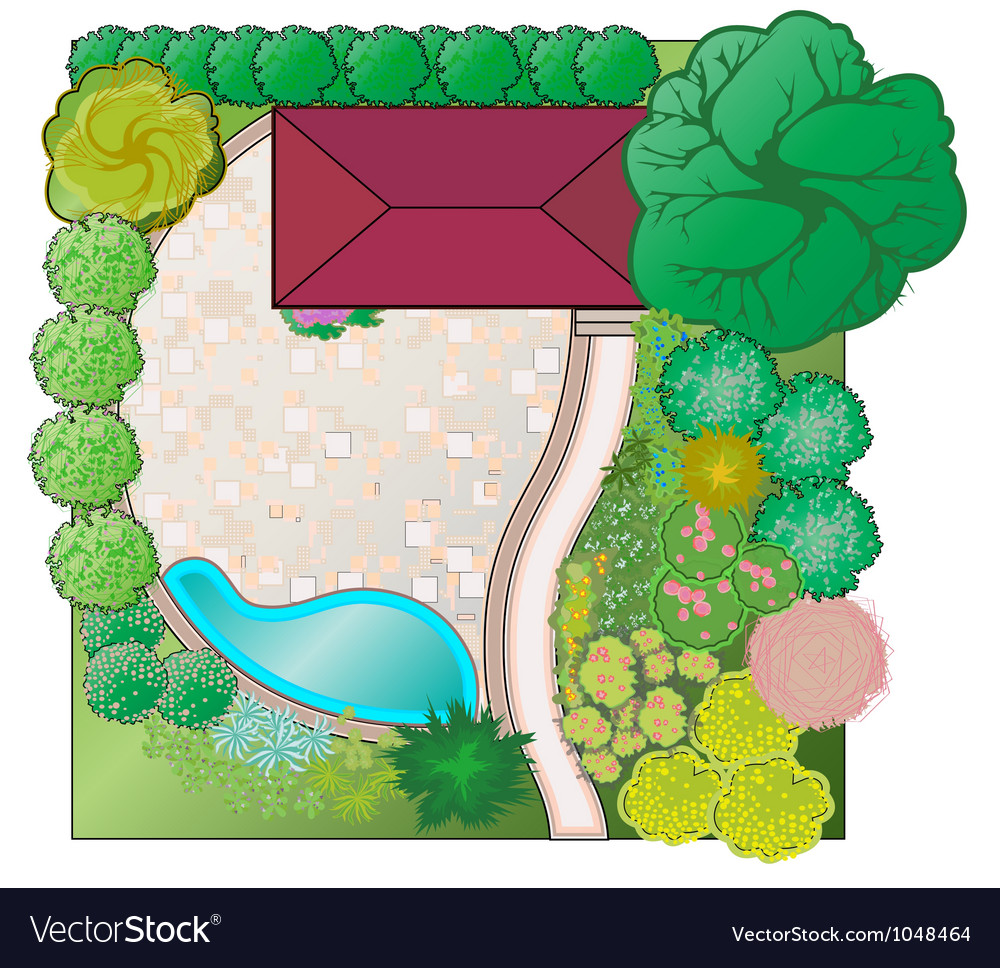 Landscaping project vector | Price: 3 Credit (USD $3)