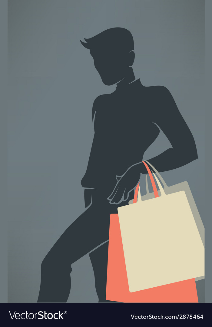 Man shopping vector | Price: 1 Credit (USD $1)