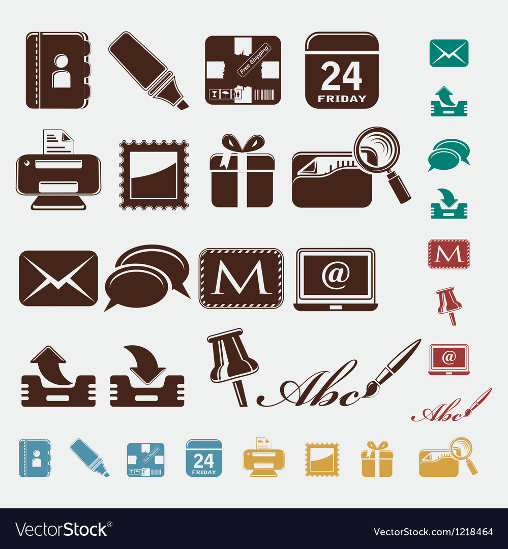 Post office icons vector | Price: 1 Credit (USD $1)