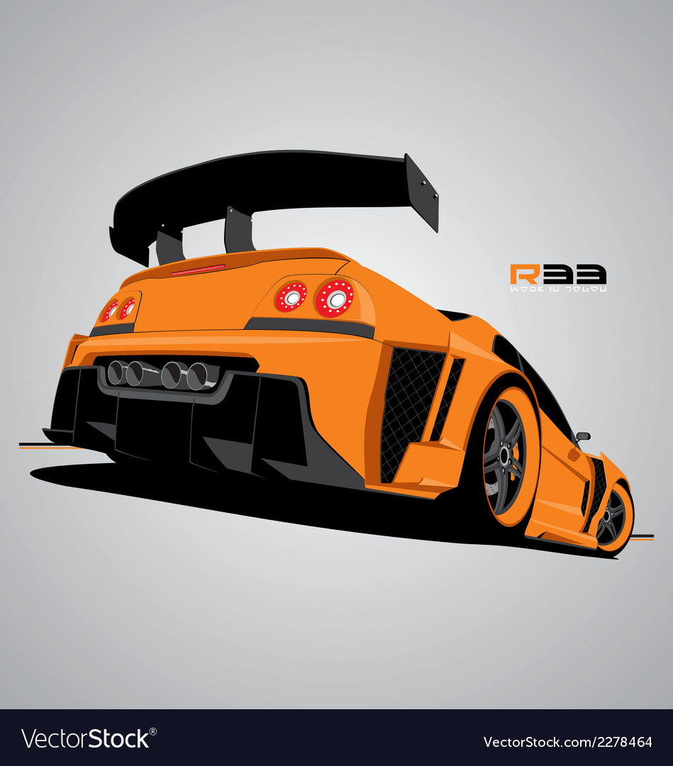 R33 sky line vector | Price: 1 Credit (USD $1)