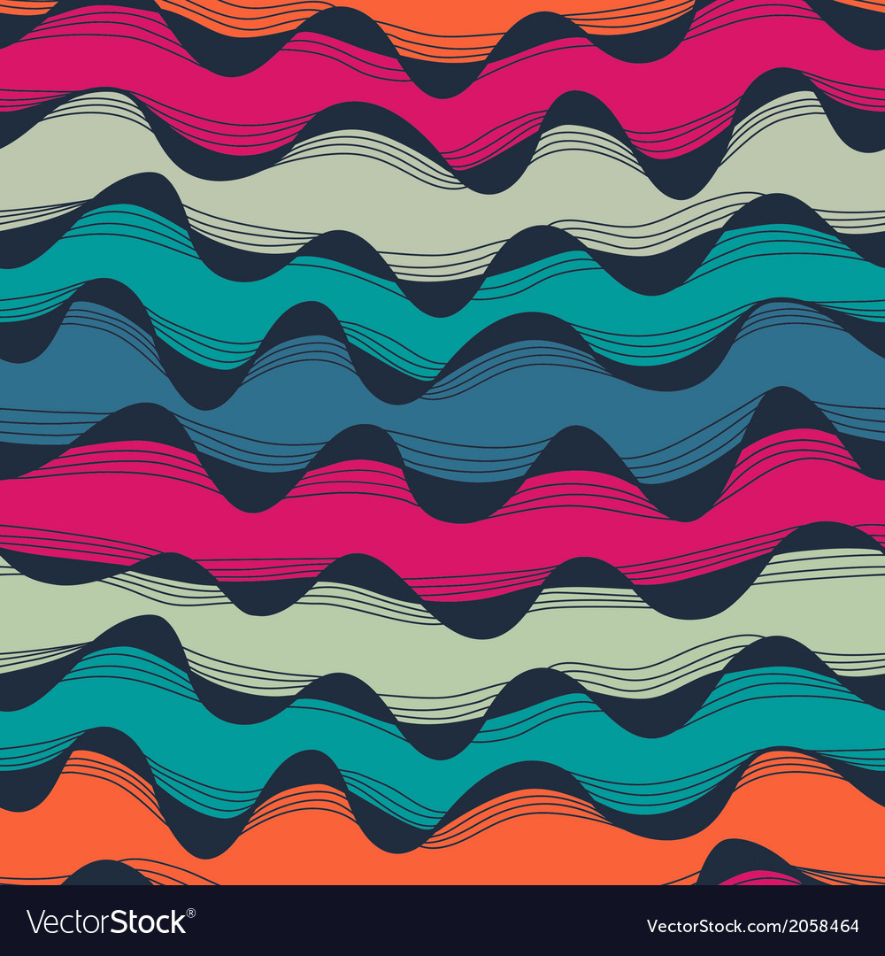 Seamless abstract hand-drawn waves texture wavy vector | Price: 1 Credit (USD $1)