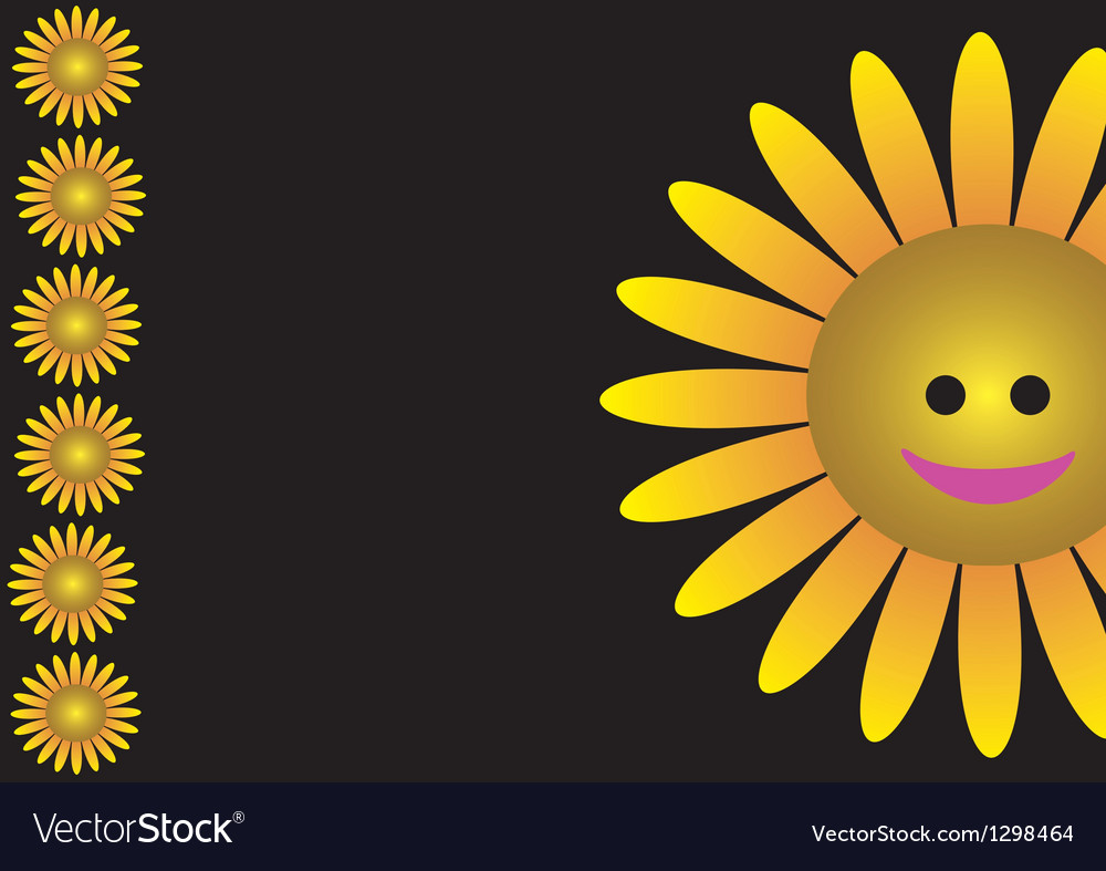 Smiling sunflower vector | Price: 1 Credit (USD $1)