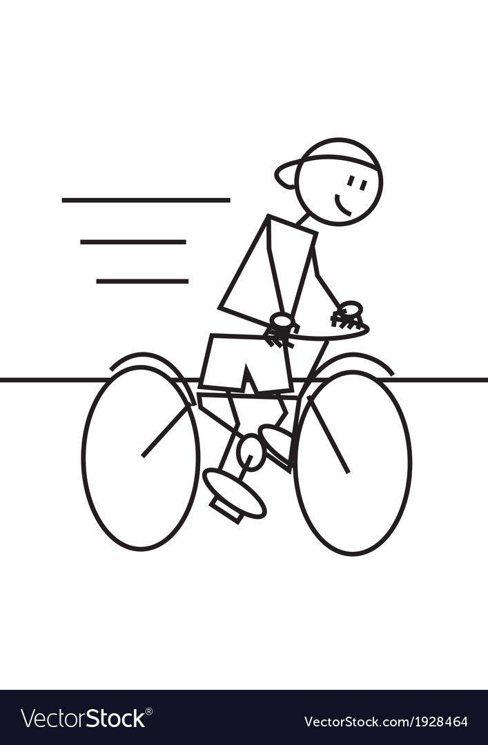 Stick figure cycling vector | Price: 1 Credit (USD $1)