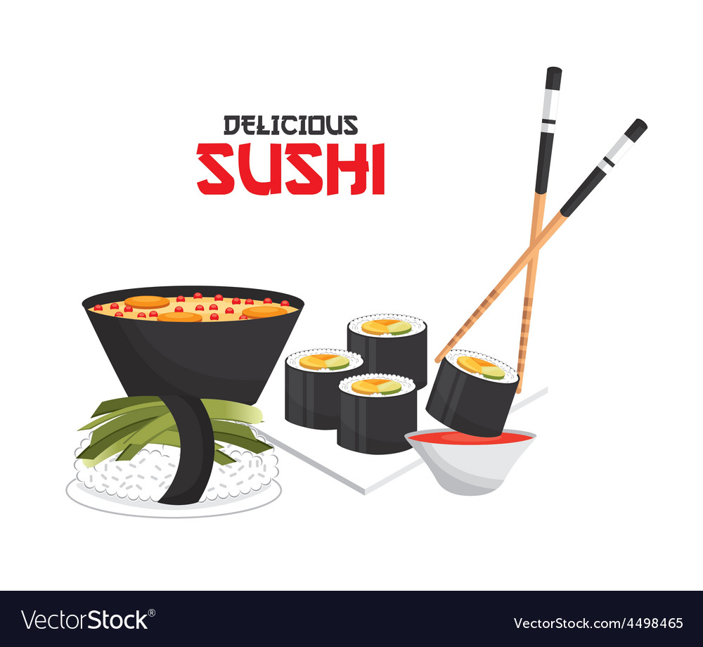 Delicious sushi vector   Price: 1 Credit (USD $1)