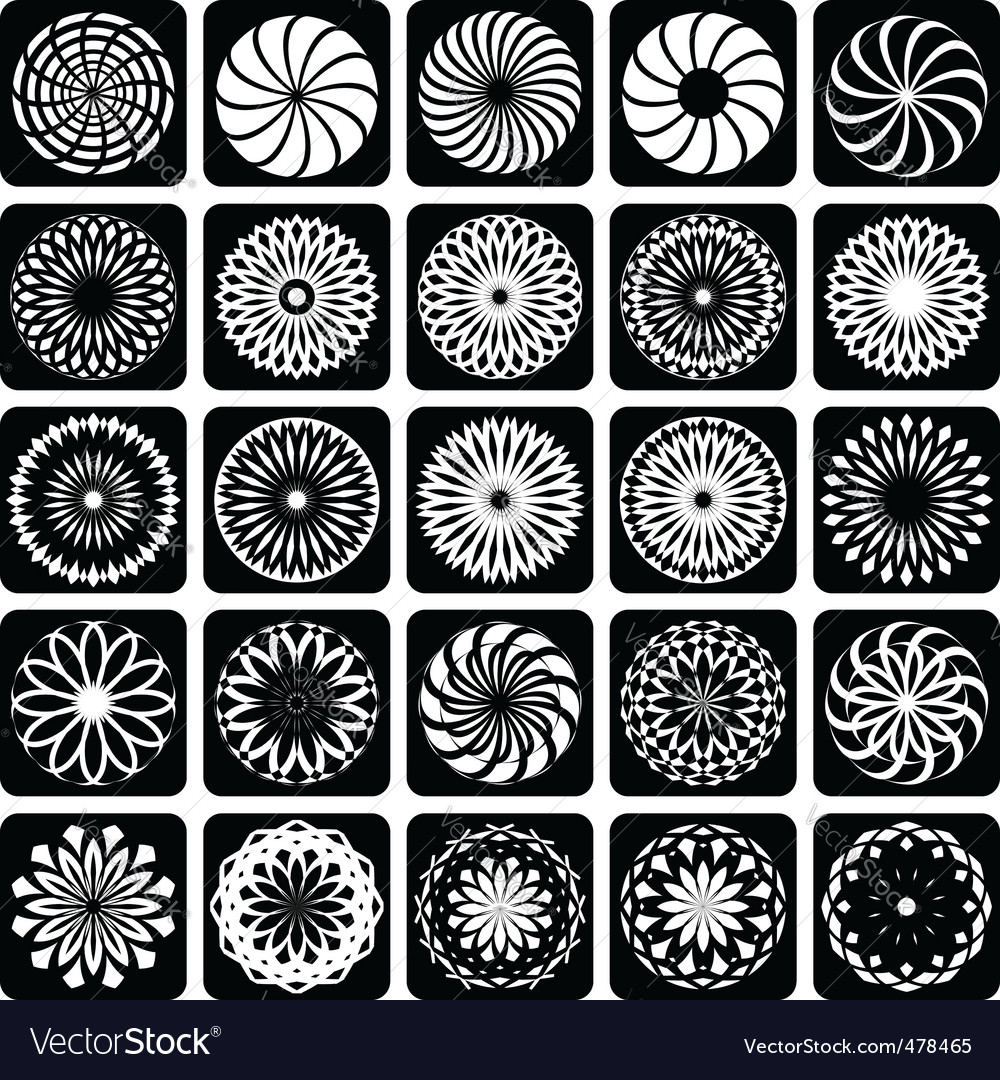 Design elements  patterns set vector | Price: 1 Credit (USD $1)