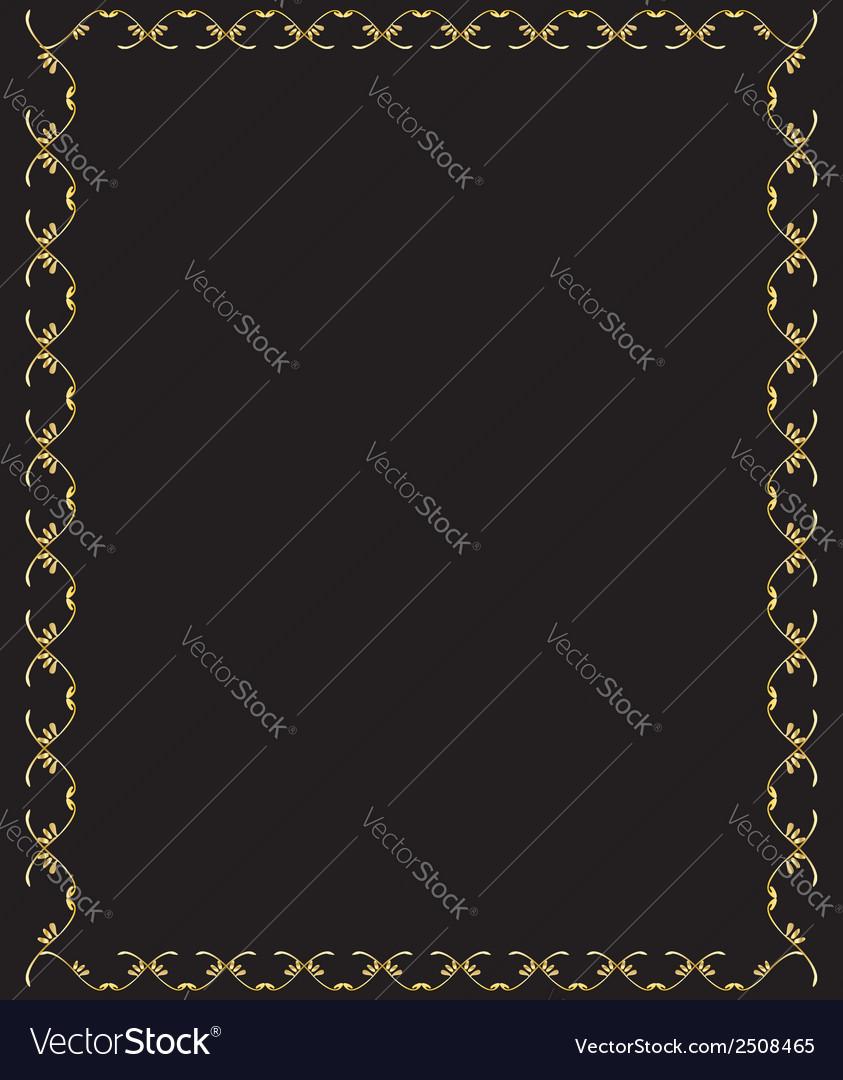 Elegant gold frame 1 vector