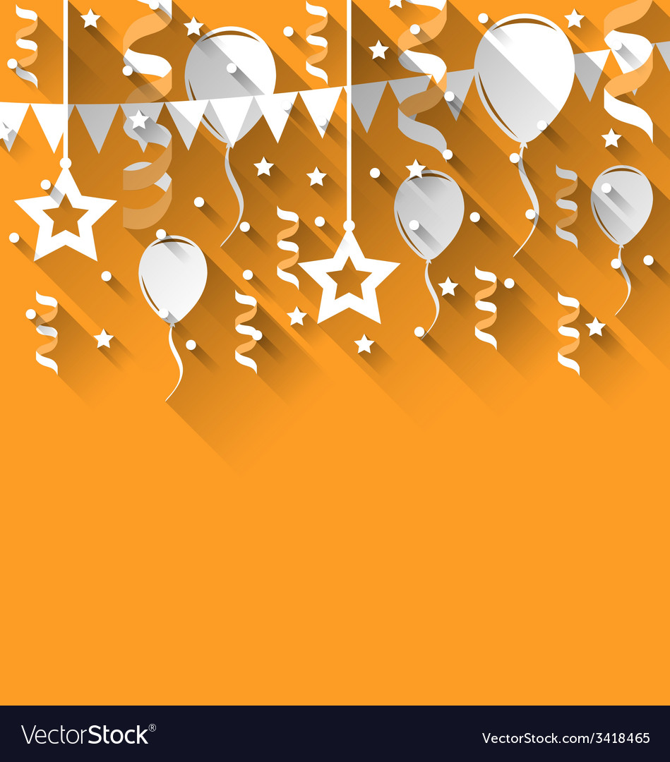 Happy birthday background with balloons stars and vector | Price: 1 Credit (USD $1)