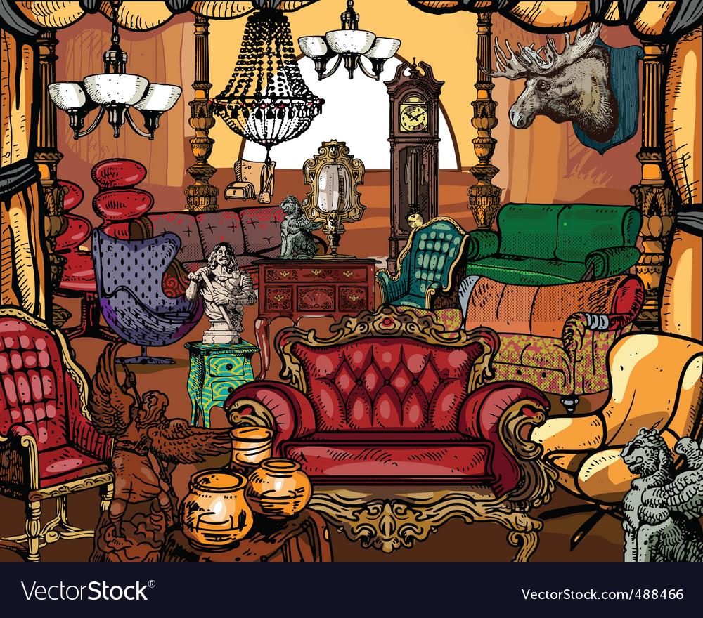 Antique furniture vector | Price: 5 Credit (USD $5)