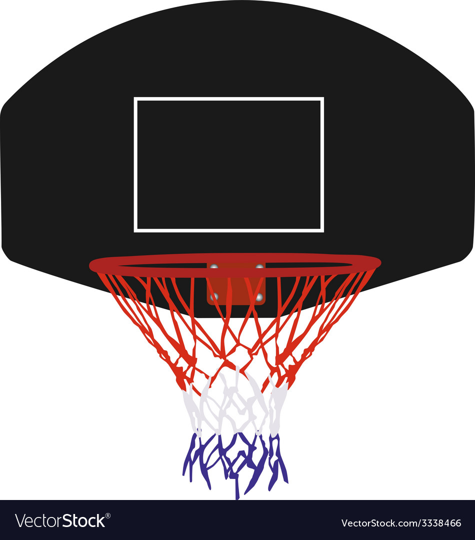 Black basketball basket vector | Price: 1 Credit (USD $1)