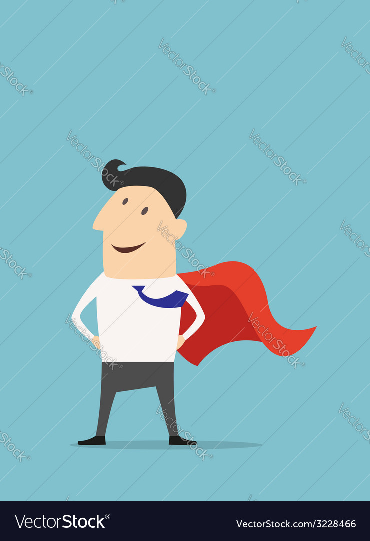 Cartoon businessman super hero vector | Price: 1 Credit (USD $1)