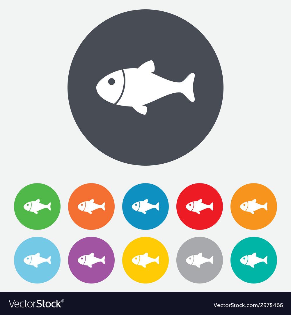 Fish sign icon fishing symbol vector   Price: 1 Credit (USD $1)