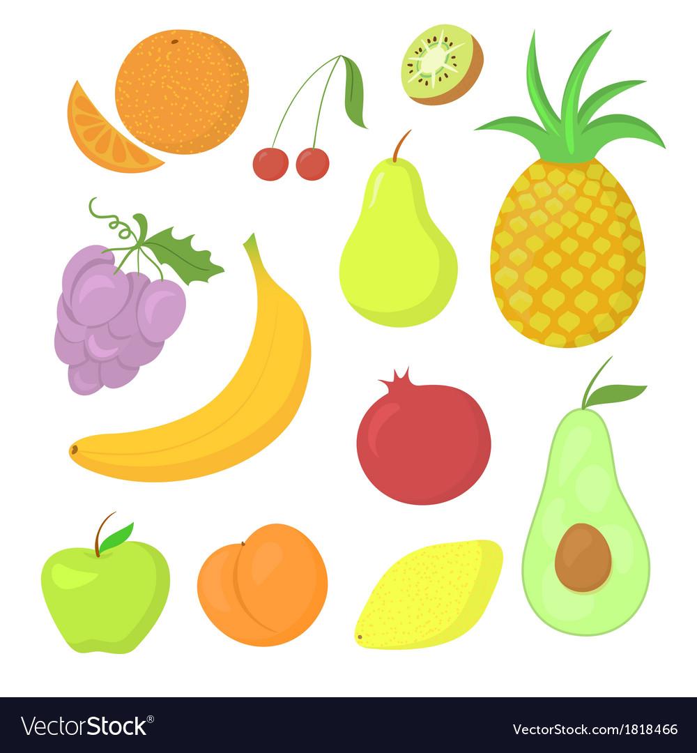 Fruit set vector | Price: 1 Credit (USD $1)