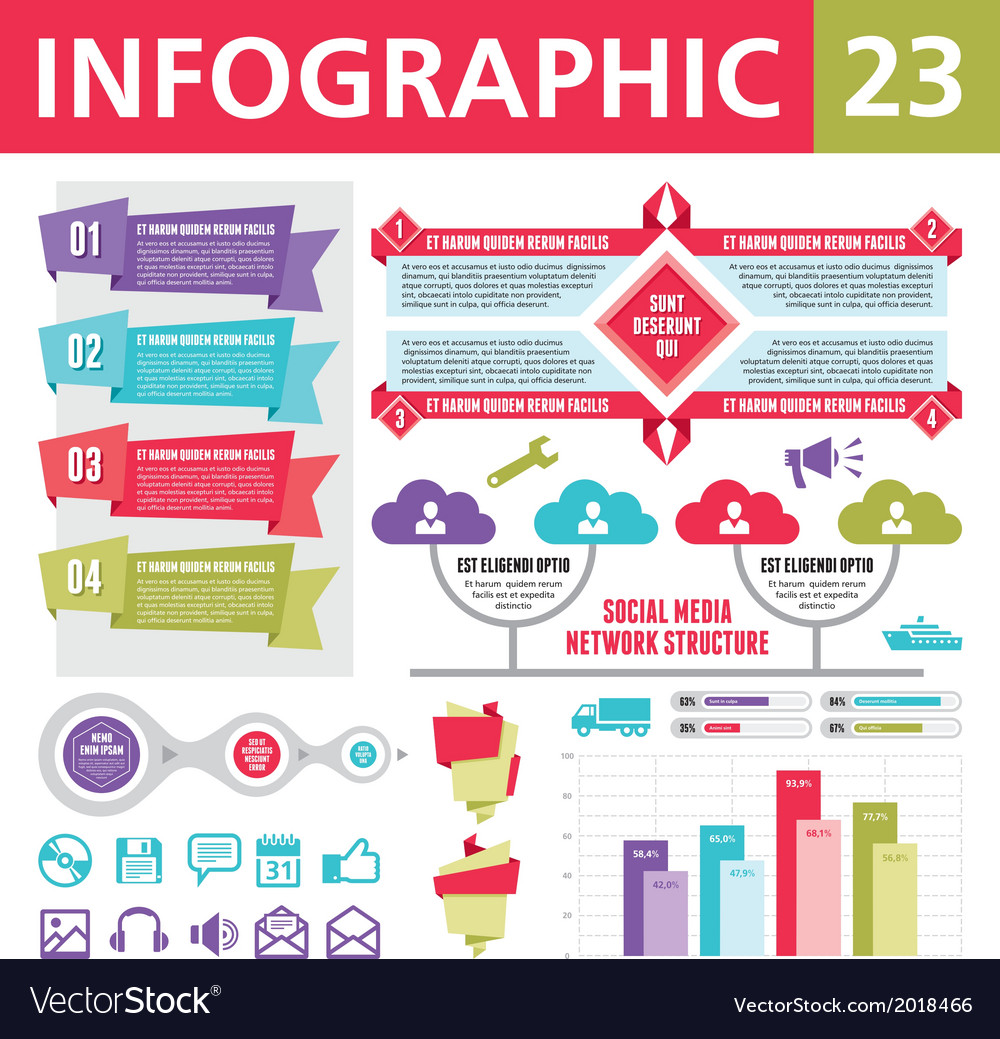 Infographics elements 23 vector | Price: 1 Credit (USD $1)