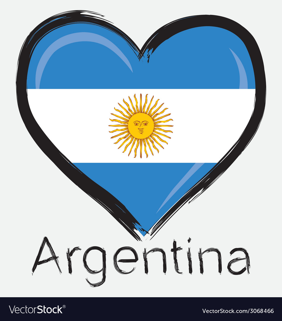 Love argentina flag vector | Price: 1 Credit (USD $1)