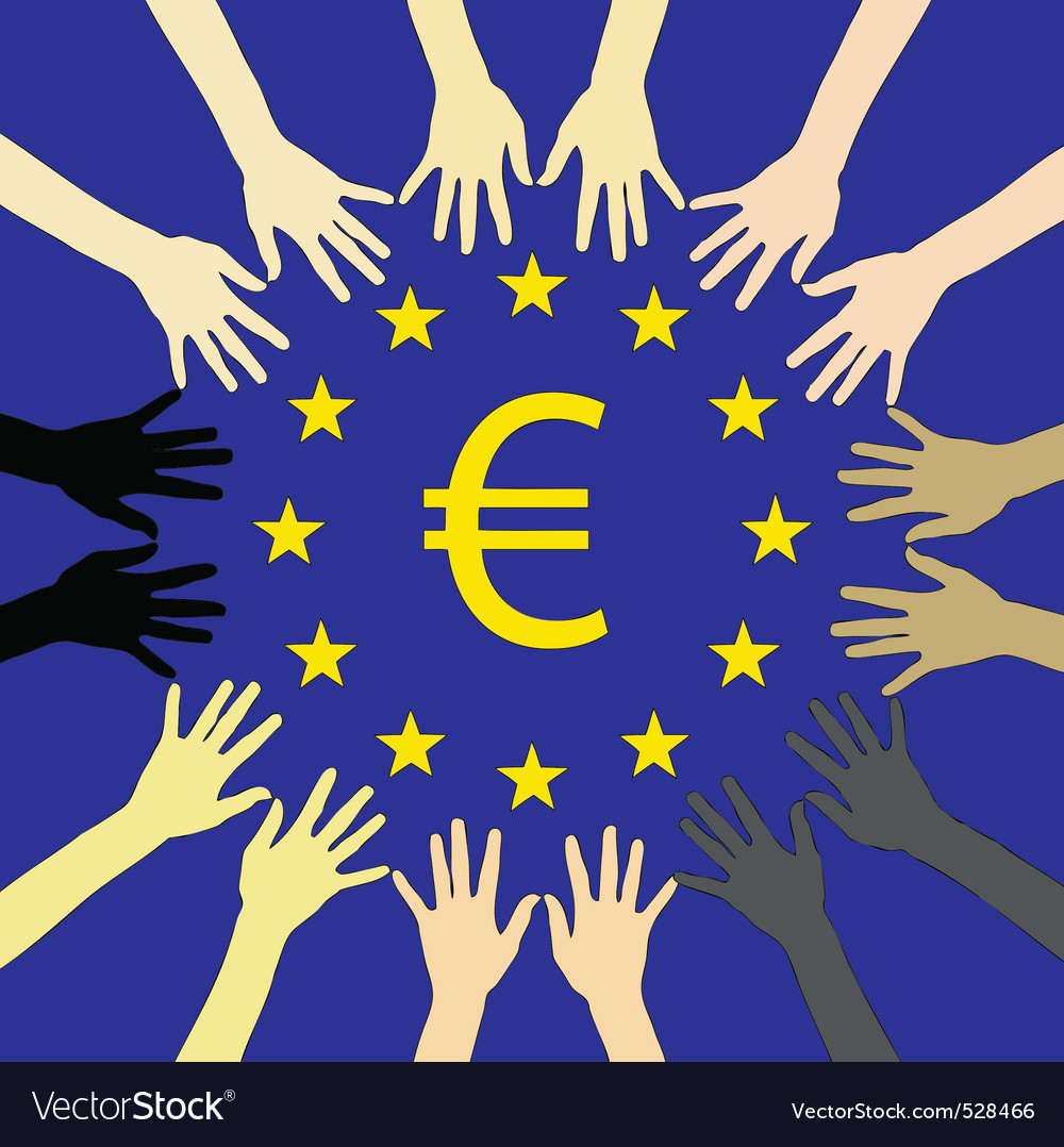 Many hands for europe vector | Price: 1 Credit (USD $1)