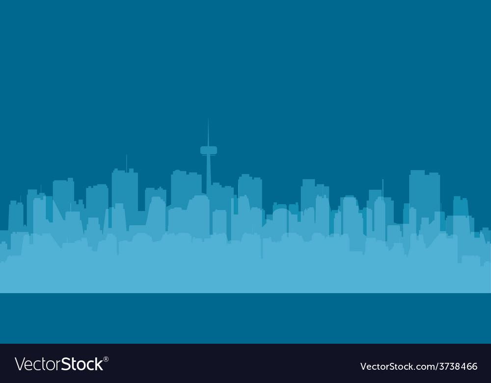 Original contour of the big city on a blue vector | Price: 1 Credit (USD $1)