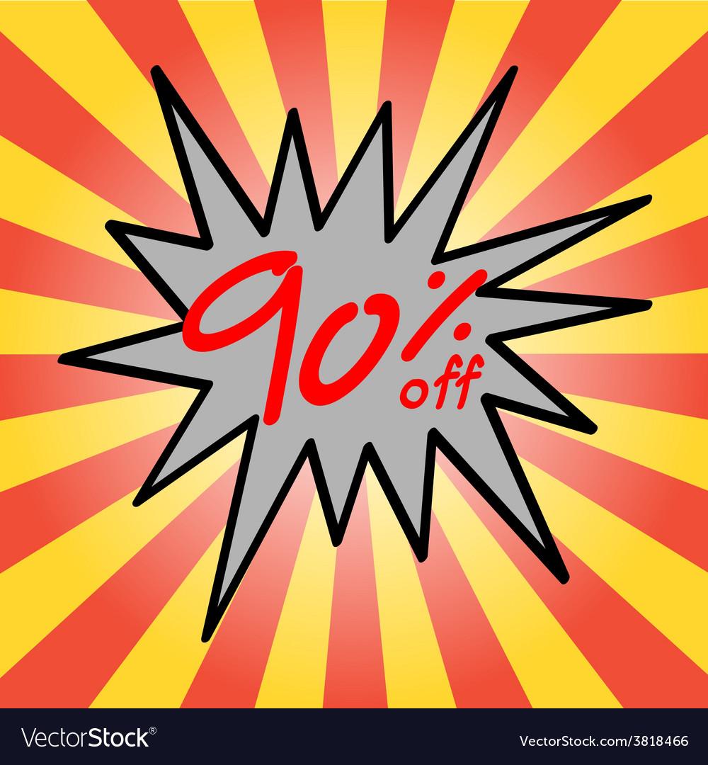 Sale 90 text vector | Price: 1 Credit (USD $1)