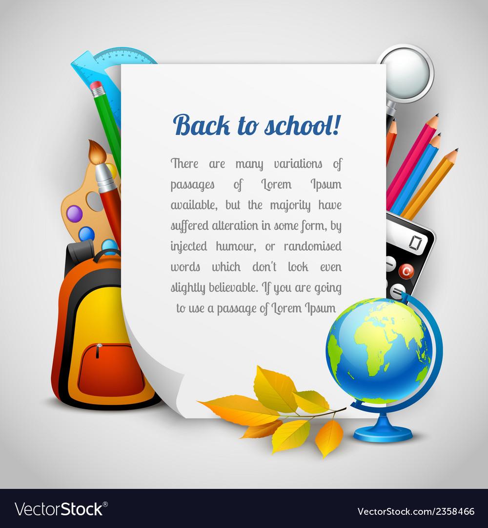School elements background vector | Price: 1 Credit (USD $1)