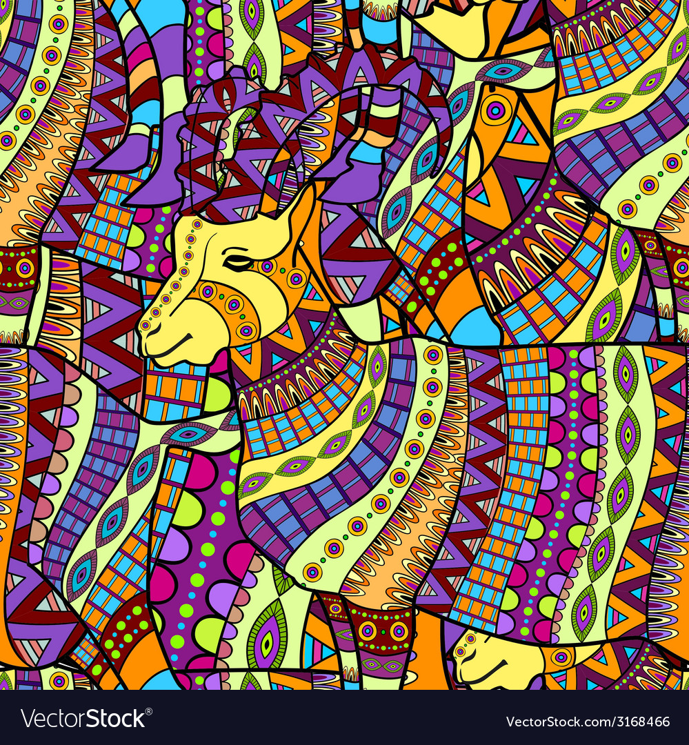 Seamless decorative goat background vector | Price: 1 Credit (USD $1)